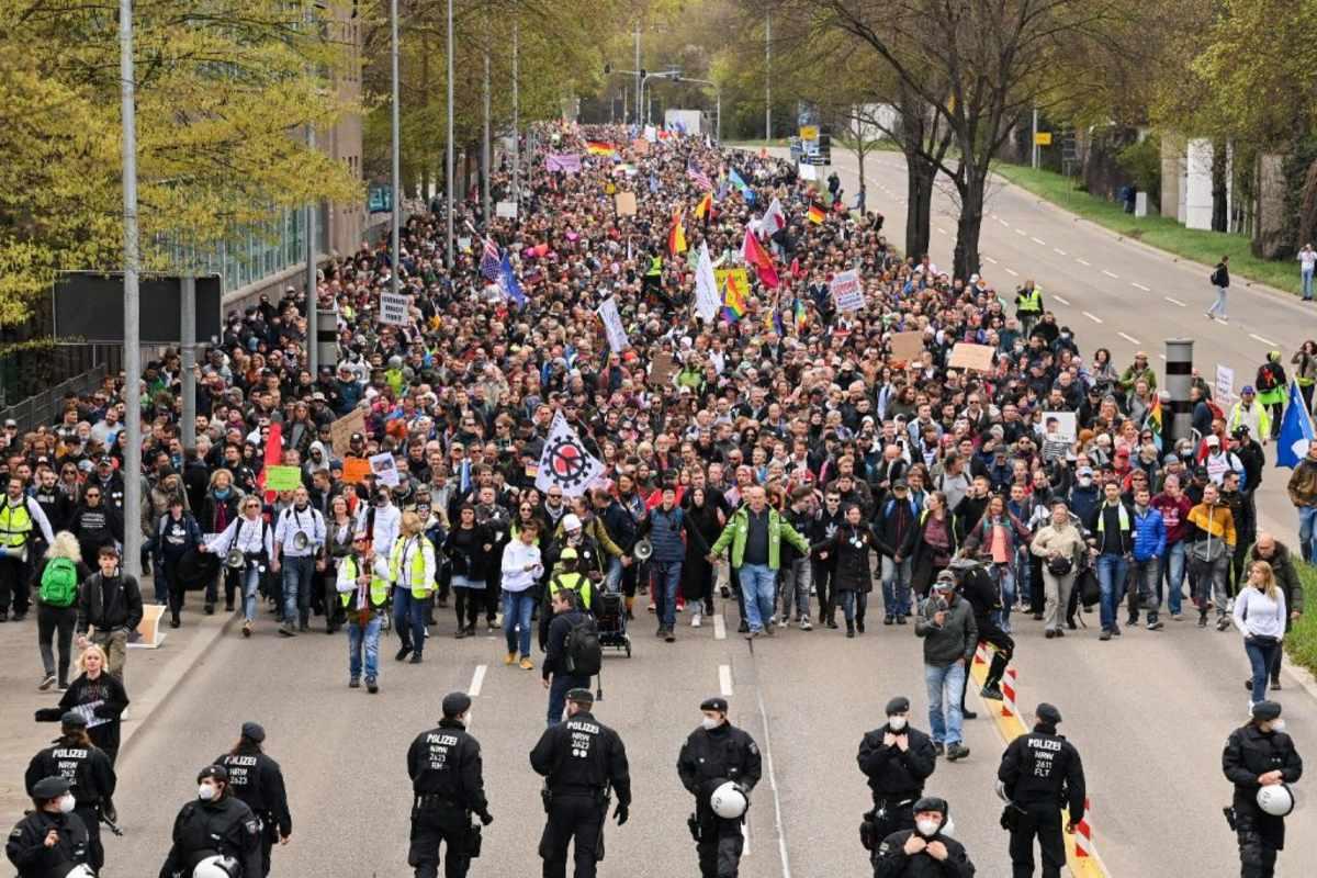 Németország tüntetés