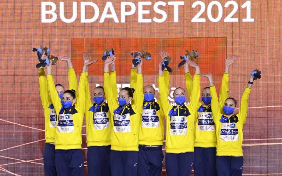 Vizes Eb: aranyérmes lett az ukrán szinkronúszó csapat a szabadprogram döntőjében