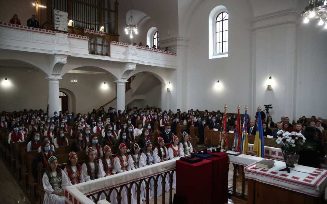 The opening ceremony of the new academic year at the Ferenc Rakoczi II Transcarpathian Hungarian College of Higher Education