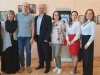 Открытие фотовыставки Коллектив музея с главными Героями выставки
