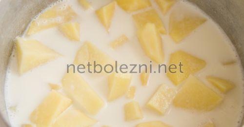 Сүтпен картоп компресті