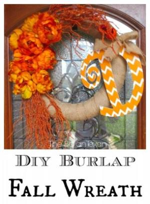 DIY Burlap Fall Wreath from Bajan Texan
