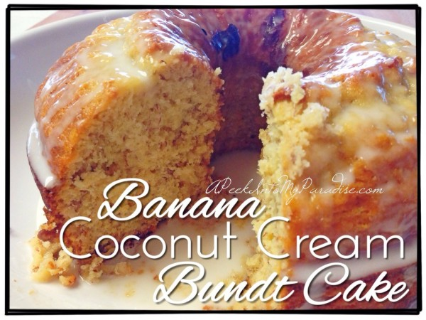 Banana Coconut cake from A Peek into my paradise