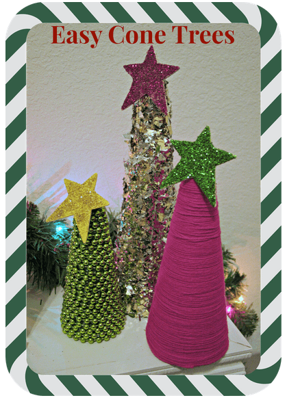 Easy Cone Trees from Laura at We got the funk