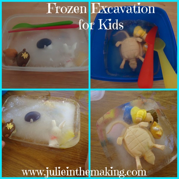 Frozen Excavation for Kids