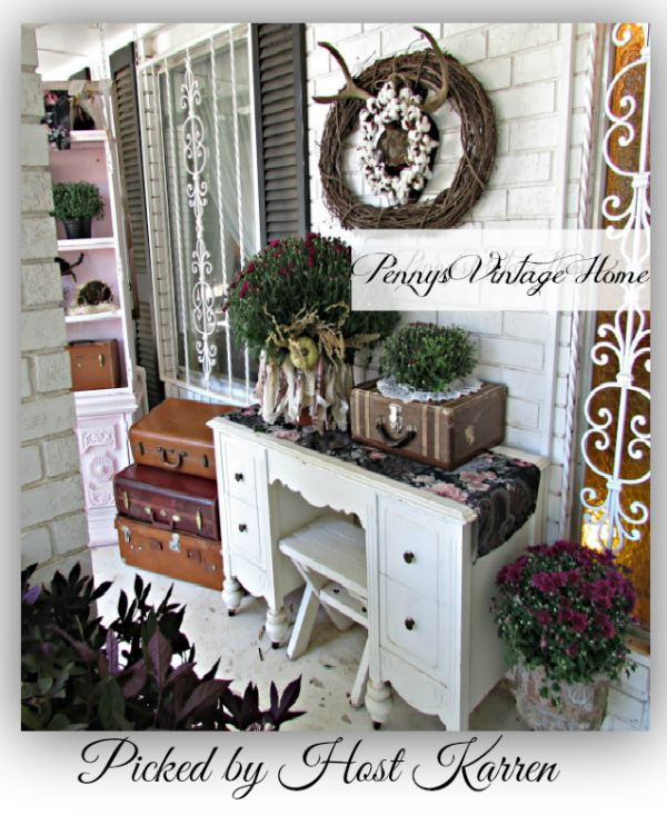 FAll Container Decorarating Pennys Vintage Home