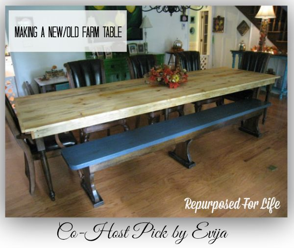 Making a New Old Farm Table-Repurposed Life