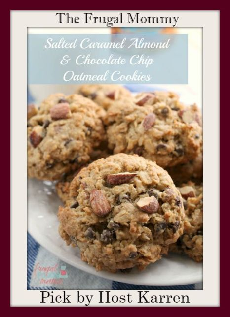 Salted-Caramel-Almond-Chocolate-Chip-Oatmeal-Cookies-the-frugal-foodie-mama