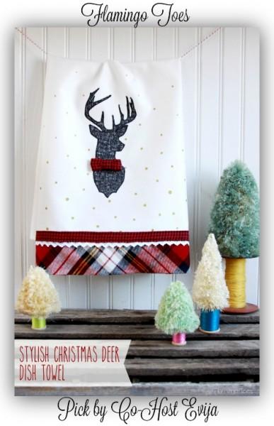 Stylish-Christmas-Deer-Dish-Towel-Flamingotoes