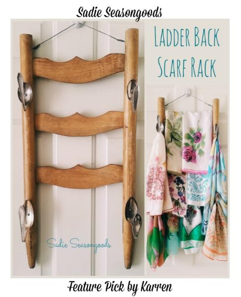 Ladder Back Scarf Rack