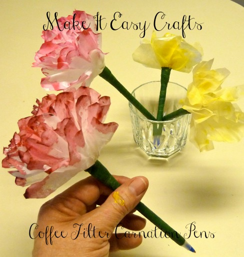 Make It Easy Crafts Coffee Filter Carnation