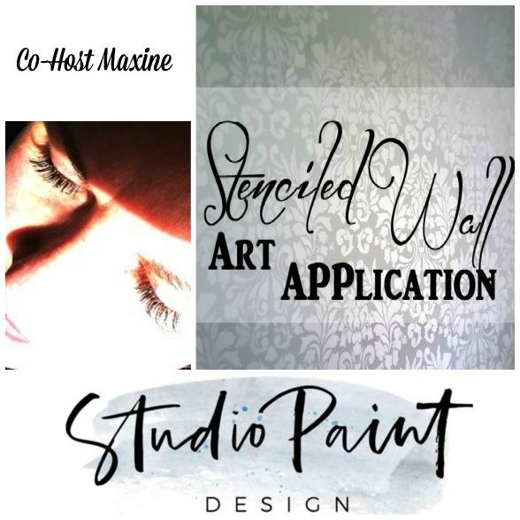 Stenciled Wall Art Application-Studio Paint