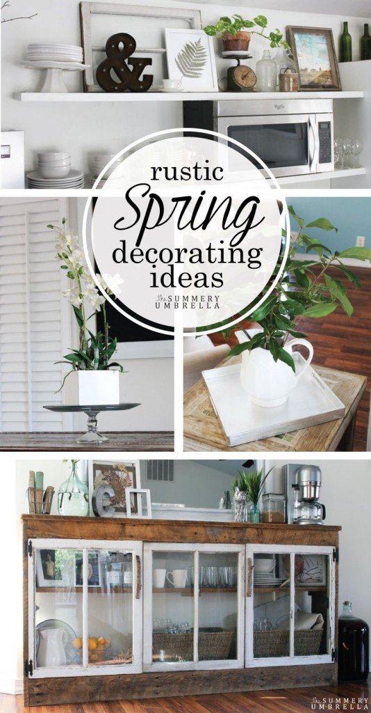 The Summery Umbrella Rustic Spring Decorating Ideas + GIVEAWAY