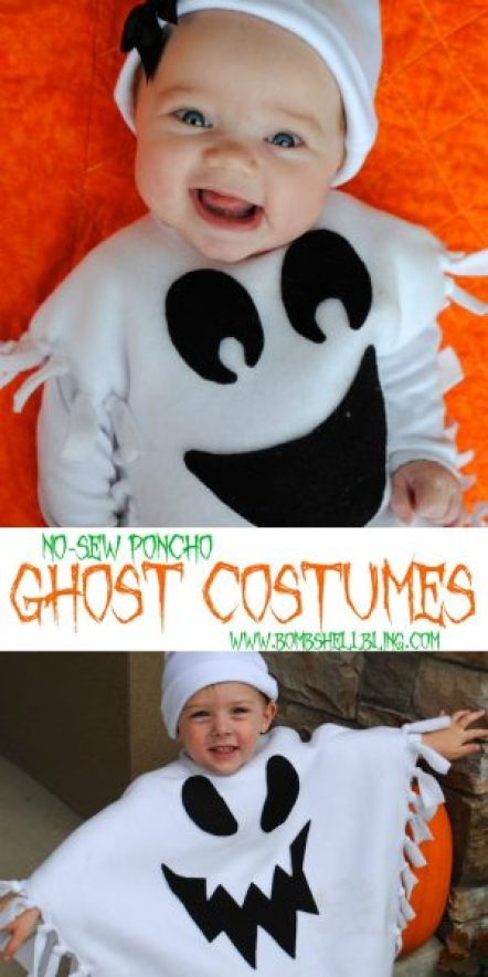No-Sew-Poncho-Ghost-Costumes BombShell Bling