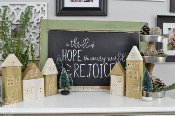 Refresh Living DIY-Christmas-Houses-with-Scrap-Wood-to-Make-a-Christmas-Village