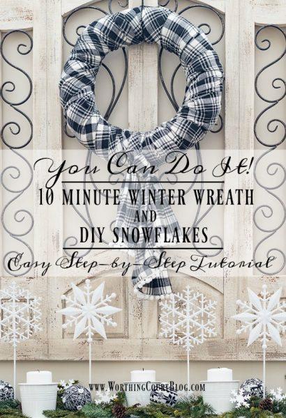 Worthington Court 10-Minute-Winter-Wreath-and-DIY-Snowflakes