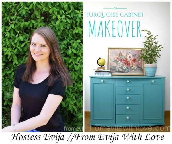 From Evija With Love Turquoise Cabinet Makeover