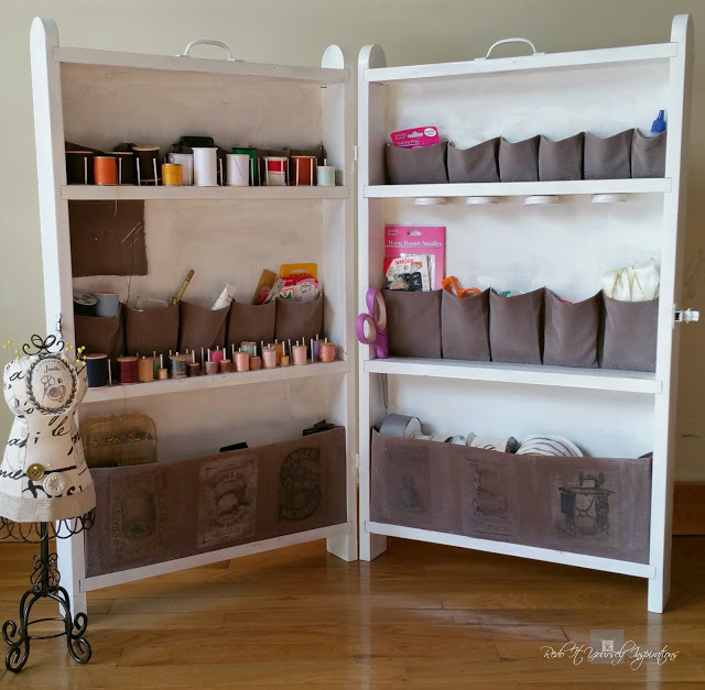 Re Do It Yourself Vintage portable sewing cabinet makeover