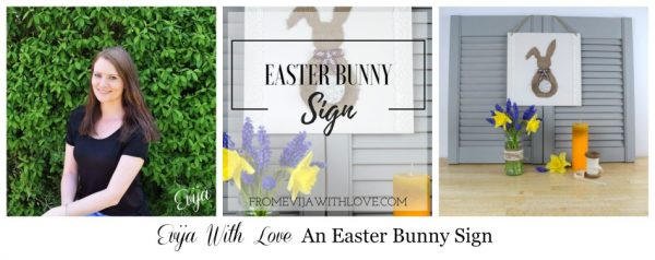 Evija With Love An Easter Bunny Sign