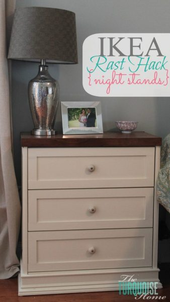 The Turquoise Home Ikea Rast Hack New Nightstands