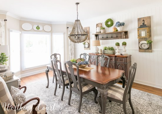 Worthing Court Farmhouse-Dining-Room-Makeover-Reveal This is an amazing DIY makeover using the same furniture and paint