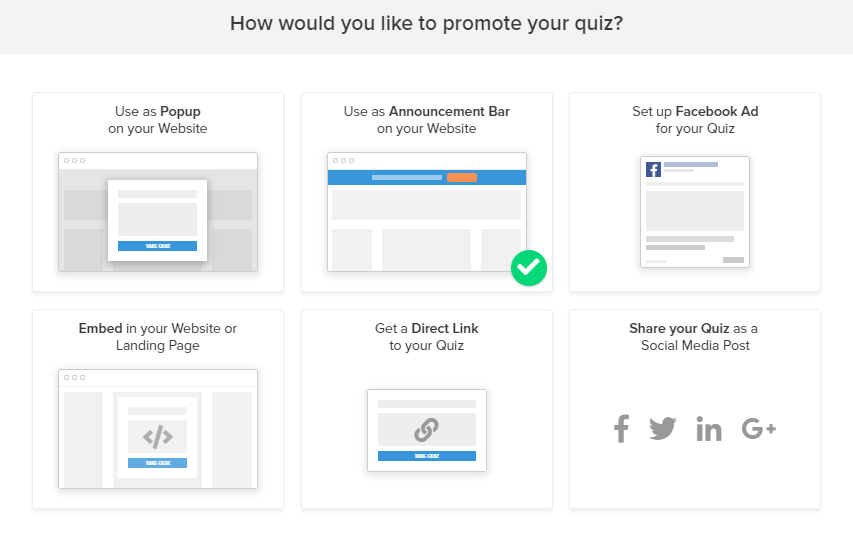 interact quiz promotion