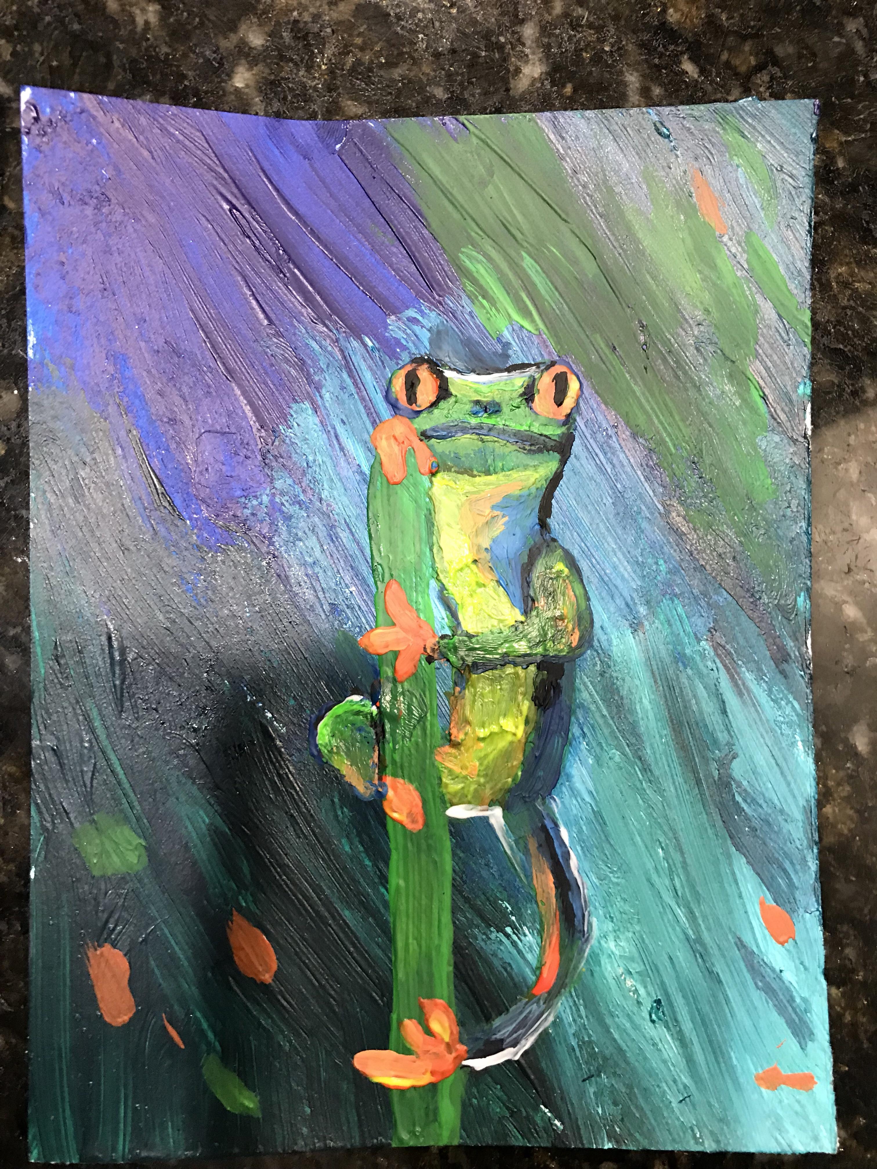 Acrylic Frog Painting
