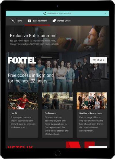 Qantas Foxtel