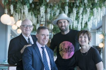 Simon McGrath with AccorHotels charity partner CEOs in the Hacienda room at Pullman Sydney Quay Grand, on Thursday, 23rd of February 2017, Sydney, Australia (Photo: Steve Christo)