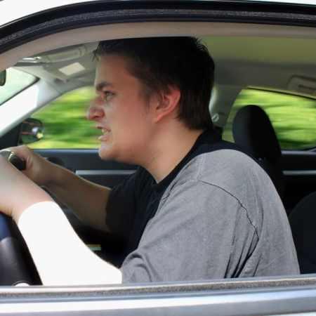 teen experiencing road rage