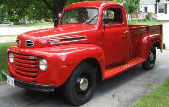 1950 Ford F-3, one of the five oldest car models still in production. Gordonrox24, Public domain, via Wikimedia Commons
