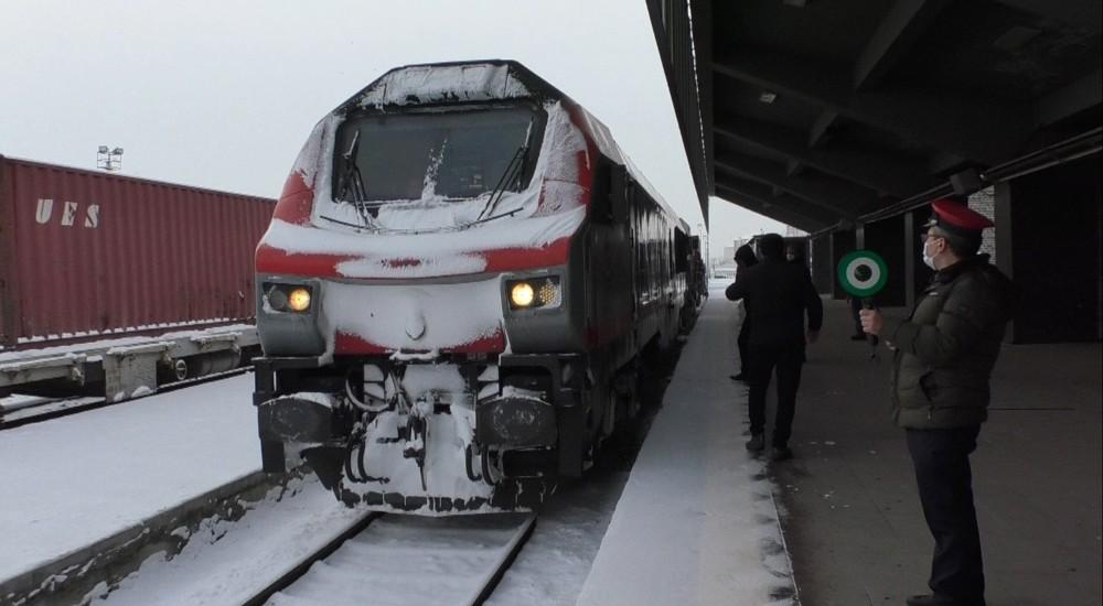 Türkiye'den Çin'e gidecek ikinci ihracat treni Kars'ta
