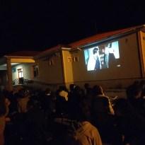 Sarıkamış Karapınar İlk ve Ortaokulu Yöneticilerinden açık havada sinema keyfi