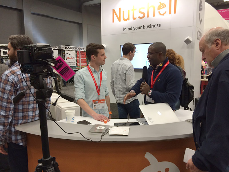 Photo of Nutshell exhibition booth design at SXSW.