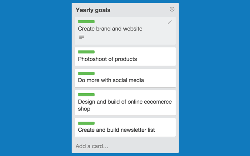 Design project management tips – set goals.