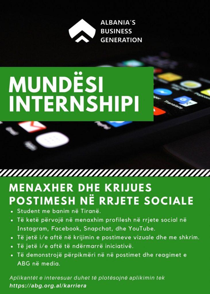 Hapen aplikimet për 3 Internshipe në Tiranë