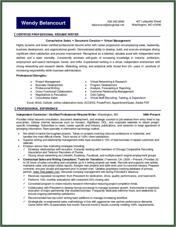 Professional Resume Writers Central Nj