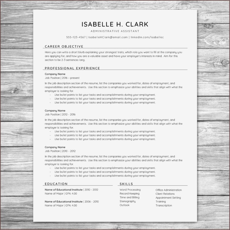 Resume Examples For Accountants With Objectives