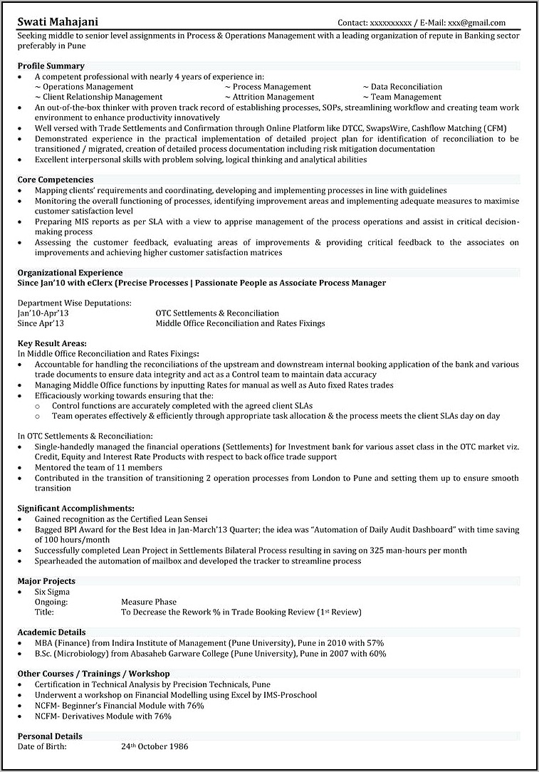 Resume For Commercial Driving Job