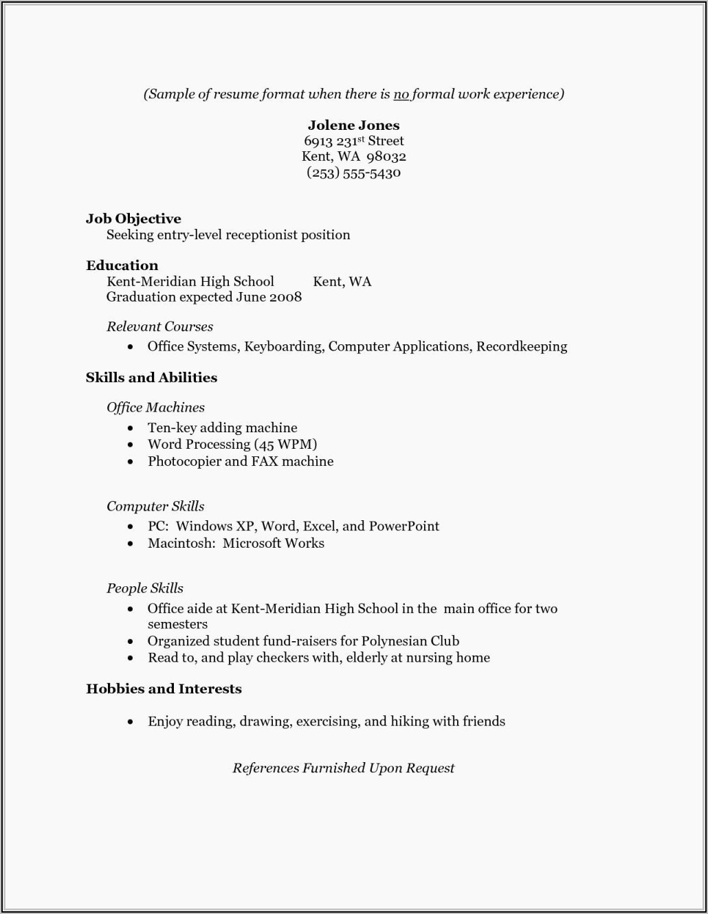 resume format for gnm nursing student