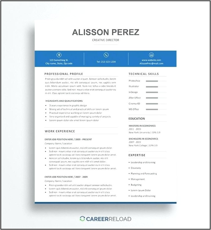 resume template download mac free