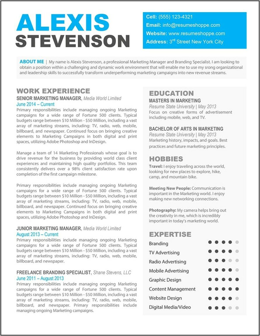 resume templates for macbook pro