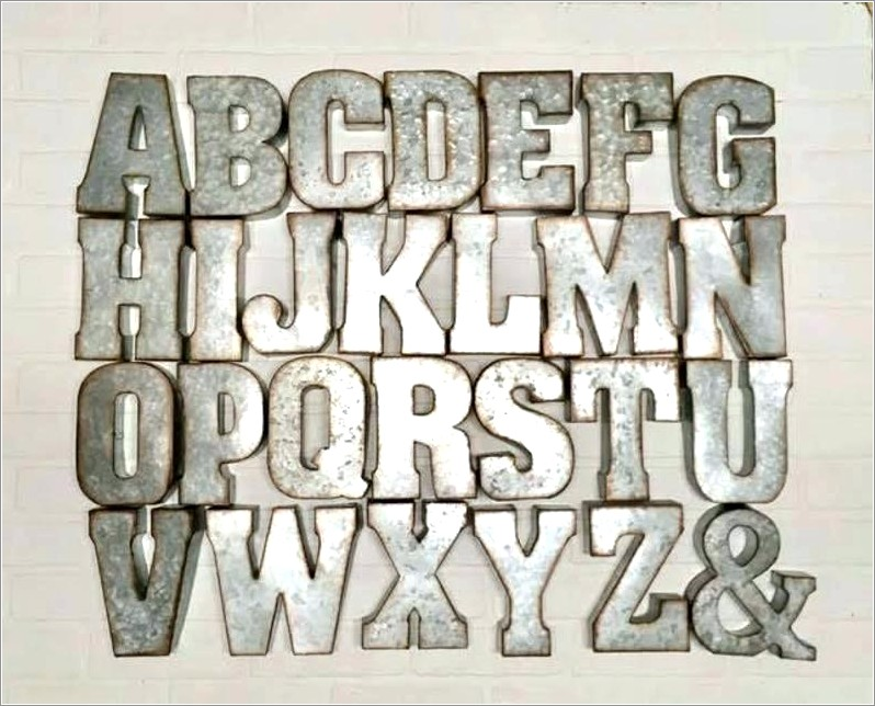 Black Wooden Letters To Hang On Wall