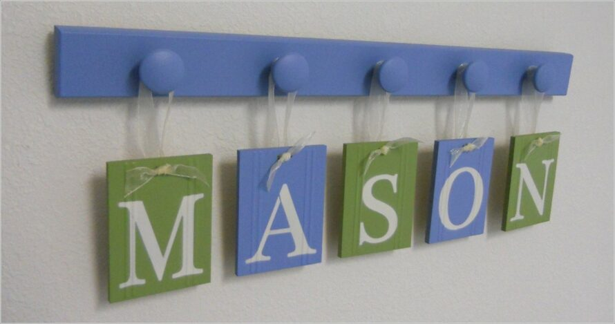 Boy Name Wall Letters