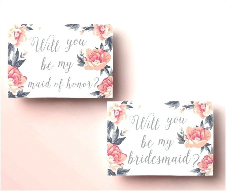 Bridesmaid Proposal Letter Template