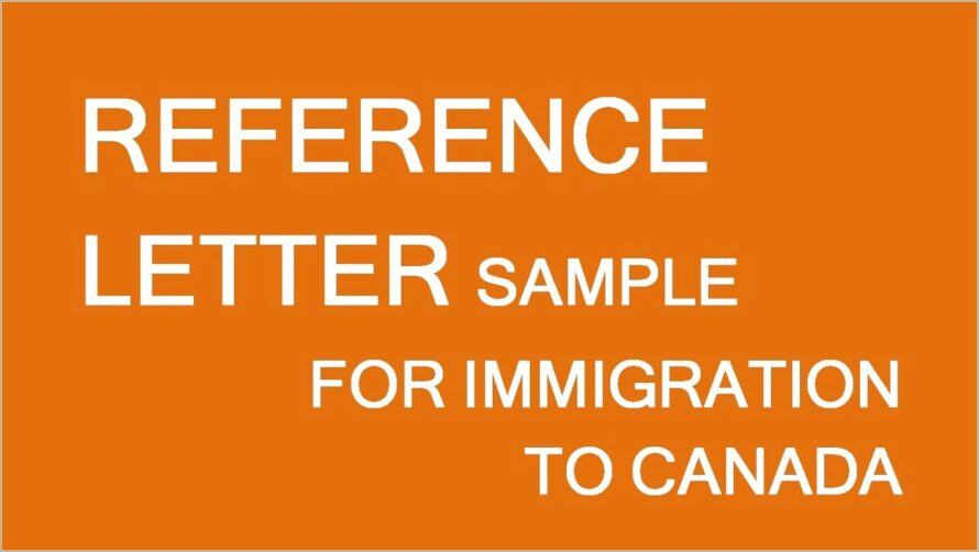 Canada Immigration Reference Letter Sample
