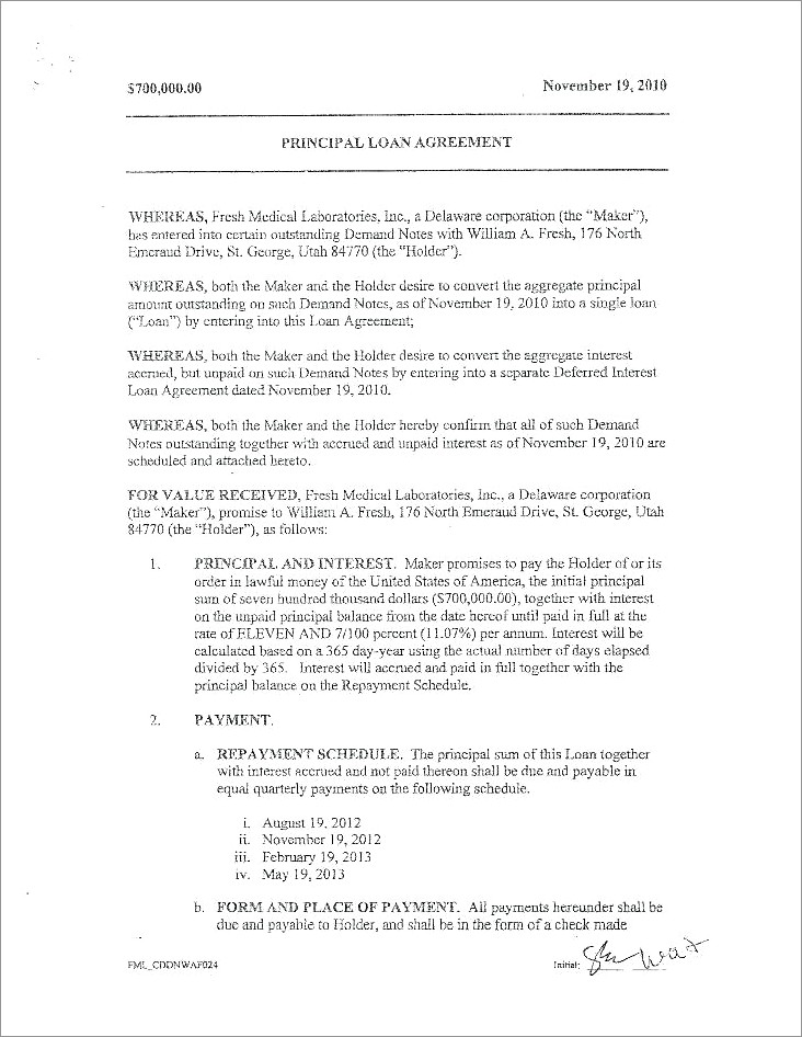 Car Accident Payment Agreement Letter Sample