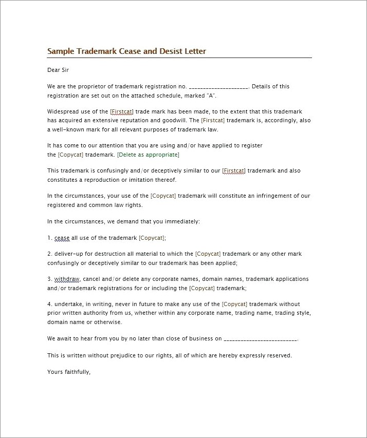 Cease And Desist Letter Sample Philippines