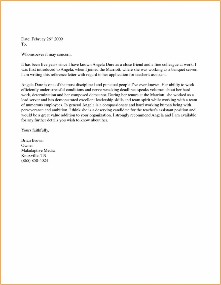 Character Reference Letter For Court Template Nsw