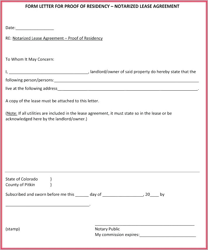 Child Support Notarized Letter Sample